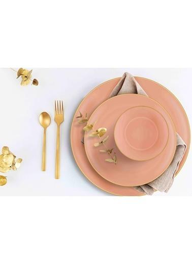 The Mia Basic Yemek Tabağı 6 Lı Set Somon Pembe - 20Cm Somon